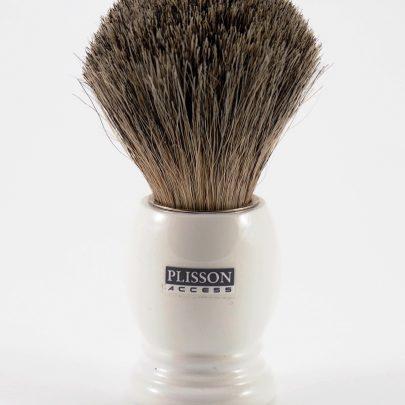 Blaireau gris Plisson manche acrylique